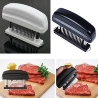 Wholesale Blade Forks - 48 Blades Needle Meat Tenderizer Stainless Steel Knife Meat Beaf Steak Mallet Meat Tenderizer Hammer Pounder Cooking Tools OOA3519
