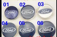 Wholesale ford focus chrome - Free Shipping 4PCS Auto Car Wheel Center Caps Wheel Covers Hub Caps 58 65 69mm Badge Emblem Hubcaps Hub Cap For Ford focus mondeWheel Covers