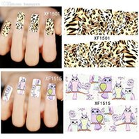 Wholesale Leopard Nail Buffer Wholesale - Wholesale-1486 Leopard Style Transfer Foil Aluminum1 File Buffer Nail art Wraps Sticker Foils Full cover Tips Decals Decoration
