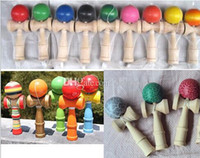 Wholesale 2017 Kendama Ball Japanese Traditional Colors cm Wood Game Toy Education Gifts Hot Sale Activity Gifts toys