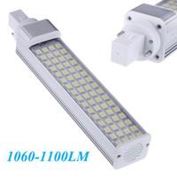 Wholesale G24 Led 22w - Energy Saving Bulb Lamp Light 180 degree 13W 64 LEDs White Led Lighting Lamp 100-240V 5050 SMD 1060-1100LM G24 order<$18no track