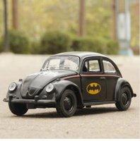 Wholesale Batman Diecast - 1:36 Toy Car Beetle Classic Alloy Diecast Car Model Toy Cartoon Vehicle Batman Toy Pull Back Car Toys For Children