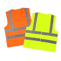 wholesale road warning light 2018 - Reflective Safety Clothing Worker Clean Sanitation Highway Road Traffic Reflective Warning Vest High Light Reflective Vests