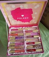 Wholesale Free Hot Melt - HOT Cosmetics set melted Matte Lipstick Lip Gloss 16 colors set DHL Free shipping+GIFT
