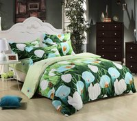 Wholesale Oil Painting Duvet Cover Flowers - Wholesale-Indoor home Oil painting ink active cotton duvet cover personalized animal flowers and plants four piece 3d bedding set CH-002