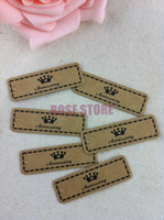 Wholesale Clothes Cards Price Tags - Wholesale-The Sole Custom Jewelry&Clothes Label Price Tags Cards 500pcs lot Brown Paper Dispaly Tags Cards From China Design Free