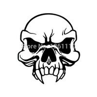 Wholesale car die cuts resale online - Vinyl Decals Car Stickers Glass Stickers Scratches Stickers Wall Die Cut Bumper Accessories Jdm Tribal Skull Sticker