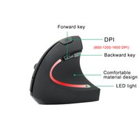 S9 Optical Wireless Mouse Acessórios para computador Wireless Fashion Gaming Design ergonômico Optical Vertical 1600 DPI Mouse