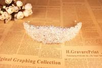 imagens coroas venda por atacado-Coroa Deslumbrante para a Moda de Noiva Acessórios Do Casamento Beads Headpieces para Meninas Partido Imagem Real Em Estoque Nupcial Tiara CPA495