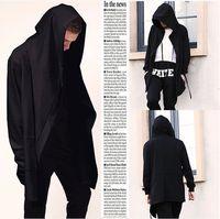 Wholesale Gothic Sweatshirt - Wholesale-Fashion Mens Hip Hop Swag Sweatshirt Hoodies chandal hombre Jakcet Gothic Wizards Clothes Plus Size Cape Coat Man