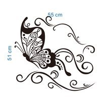 Wholesale wall hanging decoration piece - Butterfly flying wall decoration sticker removable wall art decal hanging murals stick wall art decals wallpaper