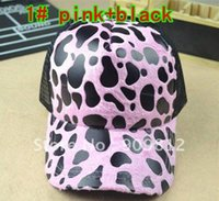 Wholesale Truck Mesh Hats Free Shipping - Wholesale-Free Shipping Leopard lady lorry cap, Sun hat, Leisure truck caps, Mesh hats, 6 color