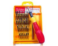 magnetischer handy-schraubendreher-set großhandel-32 in 1 Satz Micro Pocket Precision Schraubendreher Kit Magnetic Screwdriver Handy Werkzeug Reparatur Box MA2