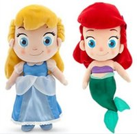 Wholesale Wholesale Mermaid Toy - 2016 Newest style 30cm New Cinderella mermaid plush toy Cinderella dolls Children's toys plush birthday gift yzs168