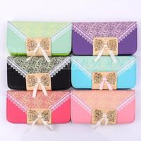 Wholesale Leather Crystal Pouch - For Iphone 6 4.7inch Iphone 6 plus Cases 5.5 inch Frame Crystal Rhinestone wallet PU Leather Case cover pouch with stand credit card Holder