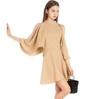 Wholesale Turtle Neck Lace Gowns - Cute Off The Shoulder Dresses Women Size Plus Fashion Dress Short Simple Kleider Damen Lace Casual Dress Wonder Woman 50N0829