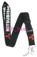 Wholesale Charms Holders - men's automobile  car Mitsubishi KEY Chain Lanyard neck lanyards Cell Phone Straps Charms ID Holder 46 colors can choose car-15