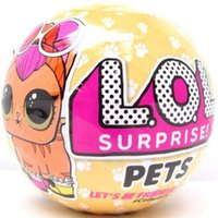 Wholesale Pet Plastic Packaging - LOL Surprise Doll Series 3 Toys LOL Pets Ball Surprise Egg Toy 10cm Action Figures Without Package 100pcs OOA3795