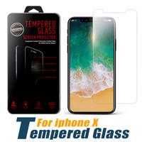 tempered glass al por mayor-Para iPhone XS Max XR Cristal templado iPhone X 8 8 Plus Protector de pantalla Iphone 6 7Plus Film para Galaxy J3 Prime J7 Refinar con paquete al por menor