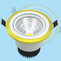 Wholesale glass dimmable remote light switches for sale - Group buy 10W Dimmable COB Led Downlight LED Ceiling lamp lights For home V V cool warm white bathroom light Indoor Lighting With led driver