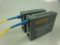 Wholesale Fiber Optic Converters - Wholesale-High quality 10 100Mbps ethernet to single mode fiber optic converter -SC 25KM -1Pair