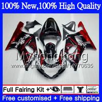 Wholesale Corona Motorcycles Gsxr - Body k1 Motorcycle For SUZUKI GSX-R600 GSXR 750 Red corona K1 GSXR750 01 02 03 23MY5 GSXR 600 01 03 GSX-R750 GSXR600 2001 2002 2003 Fairing