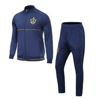 Wholesale Galaxy Print Jackets - 17 18 LA Galaxy soccer tracksuits thai quality full sleeve football jacket suits outdoor training suits adult's sports sets casual trousers