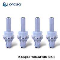Wholesale Dual Core Clearomizer - Kanger MT3S T3S Coil Head Clearomizer Coil Original Kanger Dual Coils E Cigarette Coil MT3S T3S Core T3S Replacement Coils DHL