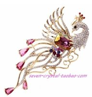 Wholesale more color diamond phoenix chest brooch cm myyhmz