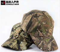 Wholesale Camouflage Caps For Sale - Wholesale-HOT! 2015 new sale bionic camouflage hunting fishing cap baseball cap Pure cotton hat for men free shipping