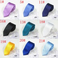 Wholesale Men S Neckties Wholesale - New Hot 24Colors 5cm Casual Narrow Arrow Ties For Men Fashion Skinny Necktie Neck Ties Candy Color Slim Men s Ties Free Shipping