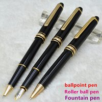 Wholesale Hot Ink Roller - hot sell MB 163 black   Red wine resin ballpoint pen   Roller ball pen   Fountain pen school office stationery luxury Writing ink pens Gift