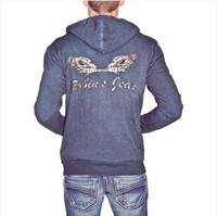 Wholesale Mens Coats Xl Usa - Fall-2015 new arrive robin jeans New York hoodies designer Sweatshirts famous brand mens hoodies plus real usa robin coat size M-3XL