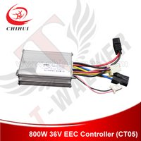 Wholesale Electric Scooter Dc Motor - Wholesale-High Quality 800W 36V DC Brush Motor Controller with 4Plugins Combined Plug for EEC-approved 800W Electric Scooter+Free Shipping