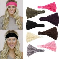 Wholesale Womens Headwear - 1PC New Womens Girls Hair Accessories Bandanas Lace Head Wrap Chic Turban Hair Band Headband Headwear Drop Shipping [JH06005*10]