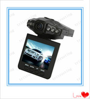 Wholesale H198 Hd Dvr - H198 HD Car recorder Car DVR Radio Camera 6 IR LED Night Video Recorder 2.5 inch Colorful Screen 270 Rotating 10PCS
