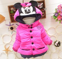 Wholesale Pink Animal Hood - Kids clothing winter baby girl long sleeve jacket children cartoon warm coat girls top free shipping