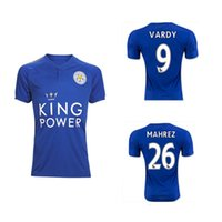 17/18 New Arrived Top Quality Fabric Hot Selling Home And Away Soccer Jersey camisa, 17/18 MAHREZ Football Jeresys, Camiseta Tamanho: S-3XL