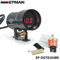 Wholesale Smoke Gauges - EPMAN - - 37mm meter   gauge MICRO DIGITAL SMOKED OIL PRESSURE GAUGE UNIVERSAL 4-6-8 CYLINDER ENGINES Black Purple EP-DGT8104
