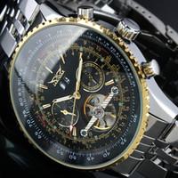 Wholesale Mens Jaragar Watch - New 2016 JARAGAR Luxury Automatic Mens Tourbillion Multi Function Watch Mechanical Watches Gift Wristwatch