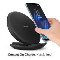 katlanabilir ped toptan satış-Hızlı Şarj Kablosuz Şarj Pad Katlanabilir Şarj Standı Tutucu C0039 Telefon X / 8/8 Artı Samsung Galaxy Not Kenar