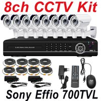 Wholesale Dvr Security Camera System Cheap - Free shipping cheap best sony effio 700TVL vari focal zoom lens cctv security video camera 8ch cctv kit cctv system 8 channel full D1 HD DVR
