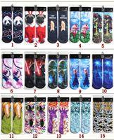 Wholesale Gun Socks Wholesale - DHL 63 Design 3D emoji socks kids women men hip hop socks 3d cotton skateboard printed gun tiger skull socks B001