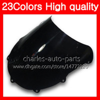 Wholesale black chrome motorcycle for sale - Group buy 100 New Motorcycle Windscreen For SUZUKI GSXR750 GSXR600 GSXR Chrome Black Clear Smoke Windshield