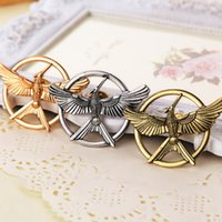 Wholesale Hunger Games Corsages - The Hunger Games Brooches Inspired Mocking jay And Arrow Brooches Pin Corsage Promotion!New Arrival European 2015 New Arrival Fashion Movie