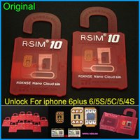 Wholesale Iphone 5c Ios7 - Newest Original R-SIM 10 rsim 10 R SIM 10 Official Unlock Card for iphone 4S 5 5C 5S 6 6plus iOS7. X-8.X Support Sprint AT&T T-mobile Cricke