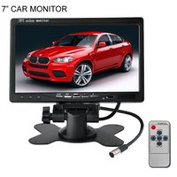 Wholesale Digital Lcd Color Tv - 7 inch TFT LCD Digital Color Car Monitor For Car Rear View Parking Backup Camera DVD VCR