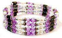 Wholesale Hematite Magnetic Wrap Bracelet - Wholesale-Free Shipping Rainso Magnetic Hematite Bracelet Fashion Jewelry Wraps Long Bracelet OHL-139C 5pcs lot