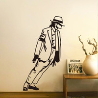 Wholesale Sticker Michael Jackson - MJ New Design Vinyl Wall Stickers Michael Jackson Home Decoration Wall Decals for Kids Nursery Living Rooms