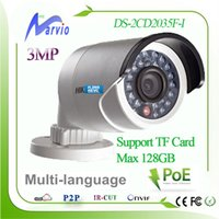 Wholesale Micro Sd Ds - New Hik H.265 3mp waterproof bullet network camera DS-2cd2035f-i Built-in Micro SD SDHC SDXC slot max 128GB   POE   Night Vision